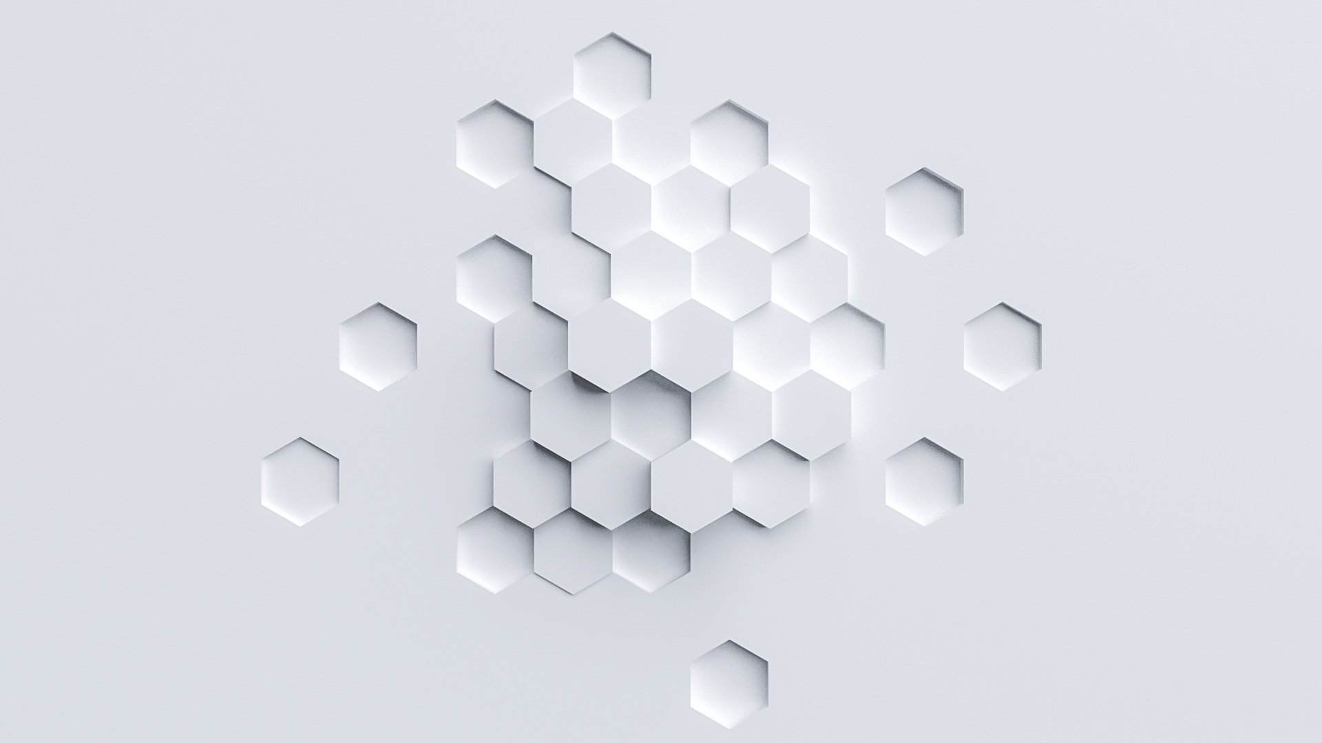Voxel Hub hexagon background 2