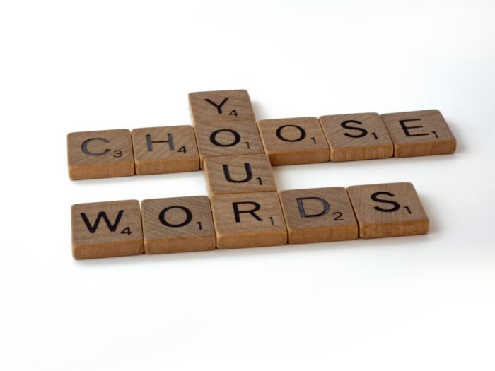 choose your words sign