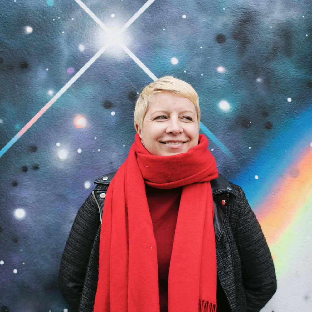 Sylwia with starred background