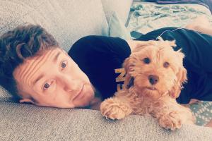 Liam with Luna