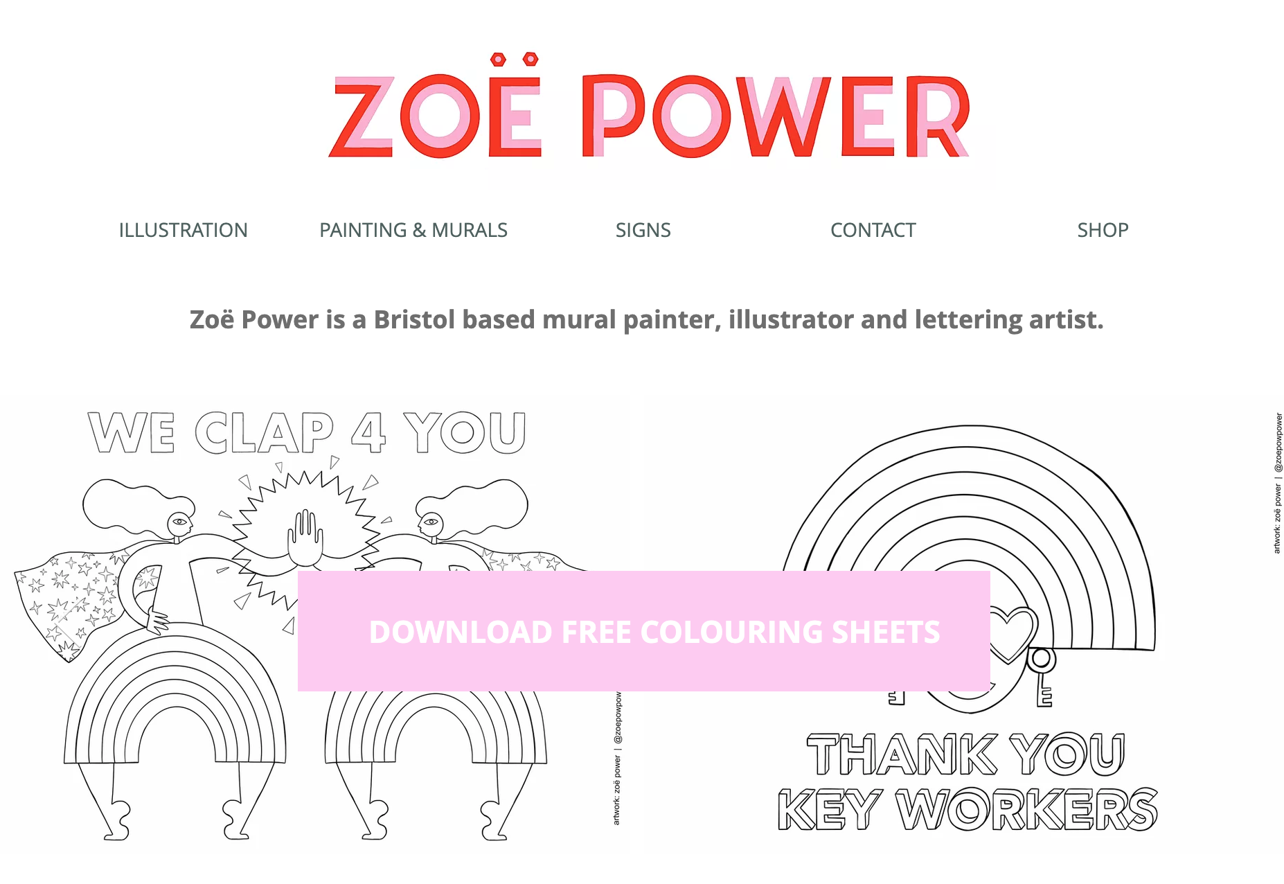 Zoe Power colouring book screenshot